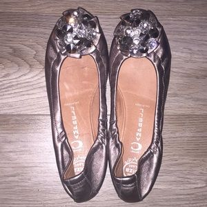 Jeffrey Campbell flats with crystal stones